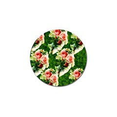 Floral Collage Golf Ball Marker