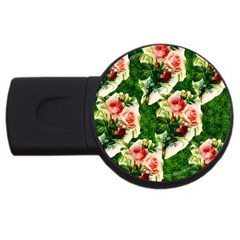 Floral Collage USB Flash Drive Round (2 GB)