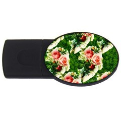 Floral Collage USB Flash Drive Oval (4 GB)