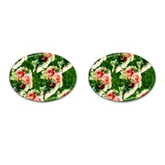 Floral Collage Cufflinks (Oval)