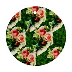 Floral Collage Round Ornament (Two Sides)
