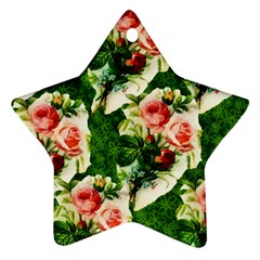 Floral Collage Star Ornament (Two Sides)