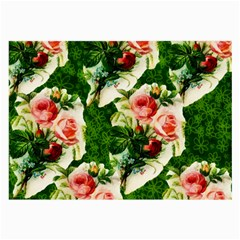 Floral Collage Large Glasses Cloth