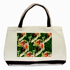 Floral Collage Basic Tote Bag (two Sides)