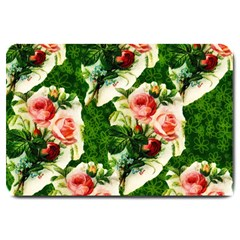 Floral Collage Large Doormat