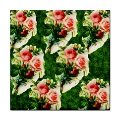 Floral Collage Face Towel