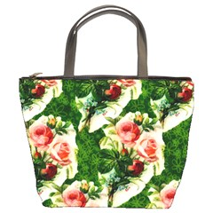 Floral Collage Bucket Bags