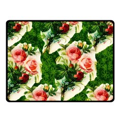 Floral Collage Fleece Blanket (Small)