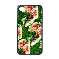 Floral Collage Apple iPhone 4 Case (Black)