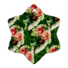 Floral Collage Ornament (Snowflake)