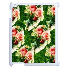 Floral Collage Apple iPad 2 Case (White)
