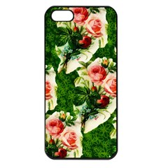 Floral Collage Apple iPhone 5 Seamless Case (Black)