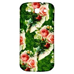 Floral Collage Samsung Galaxy S3 S III Classic Hardshell Back Case