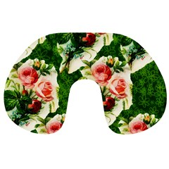 Floral Collage Travel Neck Pillows