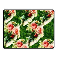 Floral Collage Double Sided Fleece Blanket (Small)