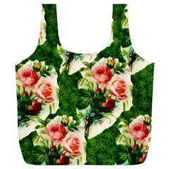 Floral Collage Full Print Recycle Bags (L)