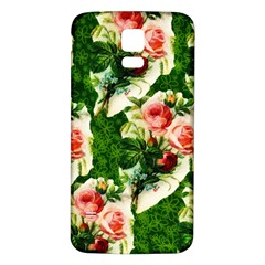 Floral Collage Samsung Galaxy S5 Back Case (white)