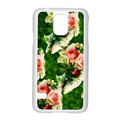Floral Collage Samsung Galaxy S5 Case (White)