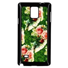 Floral Collage Samsung Galaxy Note 4 Case (Black)