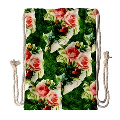 Floral Collage Drawstring Bag (Large)