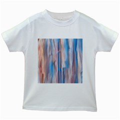 Vertical Abstract Contemporary Kids White T-Shirts