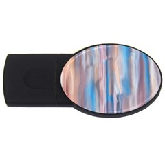 Vertical Abstract Contemporary USB Flash Drive Oval (2 GB)