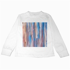 Vertical Abstract Contemporary Kids Long Sleeve T-Shirts