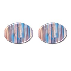 Vertical Abstract Contemporary Cufflinks (Oval)