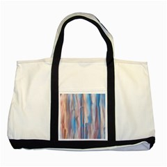 Vertical Abstract Contemporary Two Tone Tote Bag