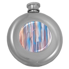 Vertical Abstract Contemporary Round Hip Flask (5 oz)