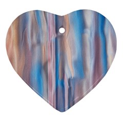 Vertical Abstract Contemporary Heart Ornament (Two Sides)