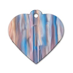 Vertical Abstract Contemporary Dog Tag Heart (One Side)