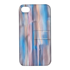 Vertical Abstract Contemporary Apple iPhone 4/4S Hardshell Case with Stand