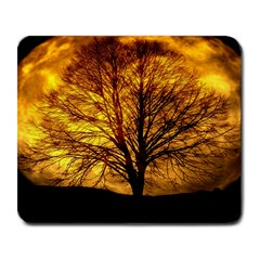 Moon Tree Kahl Silhouette Large Mousepads