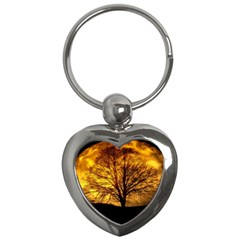 Moon Tree Kahl Silhouette Key Chains (Heart)