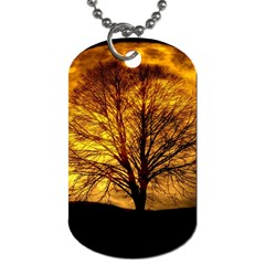 Moon Tree Kahl Silhouette Dog Tag (One Side)
