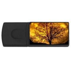 Moon Tree Kahl Silhouette USB Flash Drive Rectangular (1 GB)