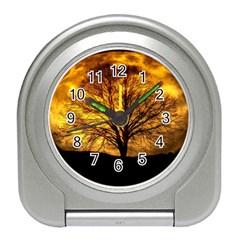 Moon Tree Kahl Silhouette Travel Alarm Clocks