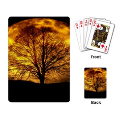 Moon Tree Kahl Silhouette Playing Card