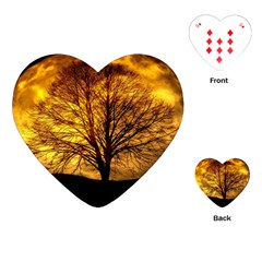 Moon Tree Kahl Silhouette Playing Cards (Heart)