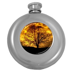 Moon Tree Kahl Silhouette Round Hip Flask (5 oz)