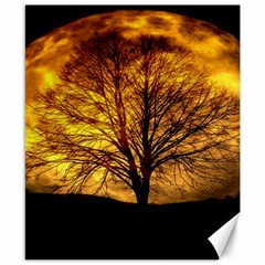 Moon Tree Kahl Silhouette Canvas 8  x 10
