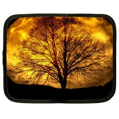 Moon Tree Kahl Silhouette Netbook Case (Large)
