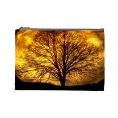 Moon Tree Kahl Silhouette Cosmetic Bag (Large)