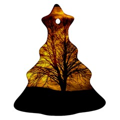 Moon Tree Kahl Silhouette Ornament (Christmas Tree)