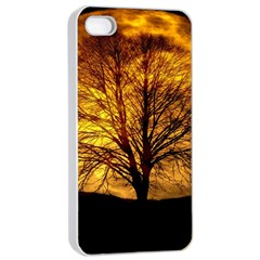 Moon Tree Kahl Silhouette Apple iPhone 4/4s Seamless Case (White)
