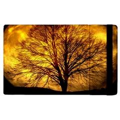 Moon Tree Kahl Silhouette Apple iPad 3/4 Flip Case