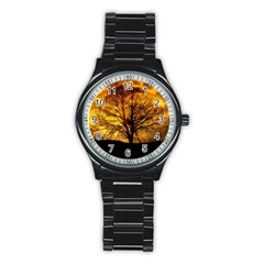 Moon Tree Kahl Silhouette Stainless Steel Round Watch