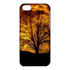 Moon Tree Kahl Silhouette Apple iPhone 5C Hardshell Case