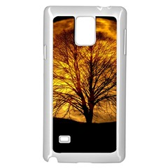 Moon Tree Kahl Silhouette Samsung Galaxy Note 4 Case (White)